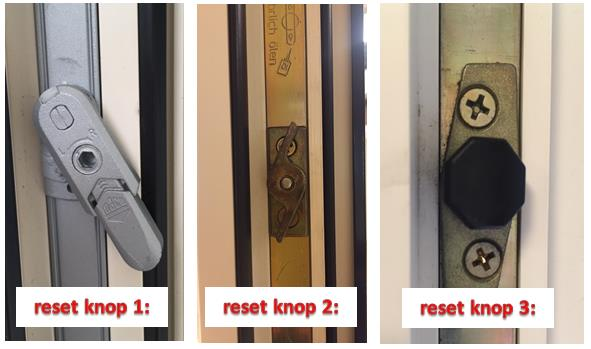 reset knop schuifpui knipping